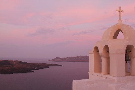 Aigialos Hotel: Sunrise View on Our Terrace