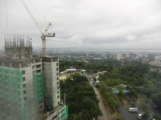 Marco Polo Plaza Cebu: Construction site from the hotel window