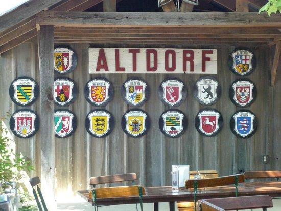 Altdorf German Biergarten and Restaurant: Altdorf German Cities Coats of Arms