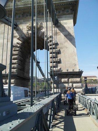 Segway Tours Budapest : Crossing the bridge