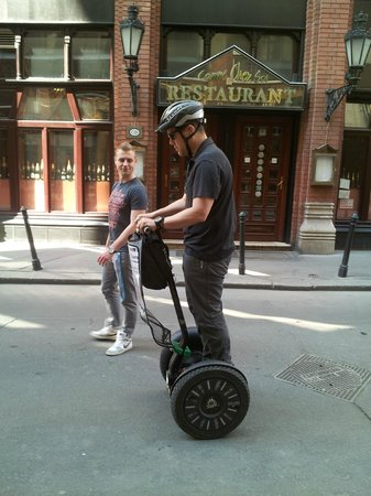 Segway Tours Budapest : Learning the ropes!!