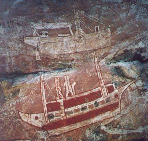 Davidson's Arnhemland Safari Lodge: Aboriginal rock art - contact period