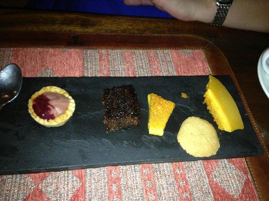 The Talisman : Dessert Trio served with an espresso