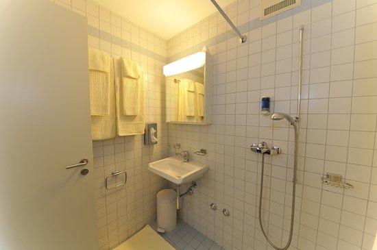 Badezimmer im Hotel am Spisertor