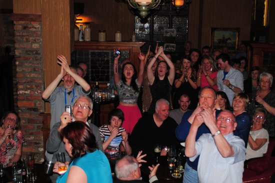 Treacy's Hotel: Our family cheering at our cousin singing