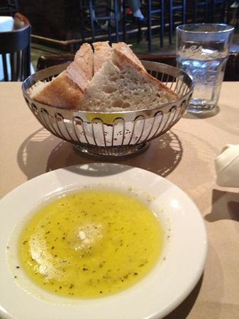 La Stalla : Fresh crusty Italian bread with seasoned olive oil