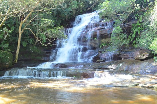 Gosford, Australië: middle of the falls