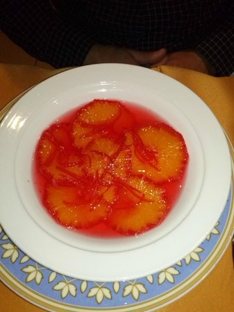 Restaurant les Marronniers: soupe d'oranges