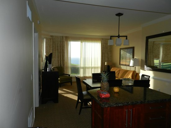 Westin Princeville Ocean Resort Villas: リビングルーム