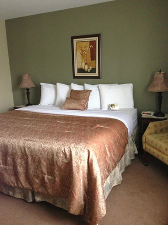 Chateau Regina Hotel & Suites: The King Bed in the 1 bedroom suite