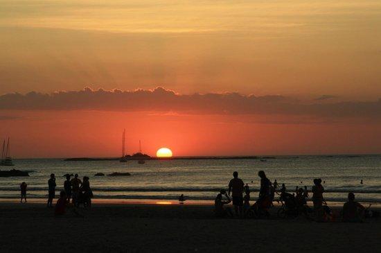 Tamarindo Beach : Solnedgang
