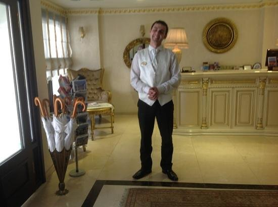 White House Hotel Istanbul: very happy Ayden