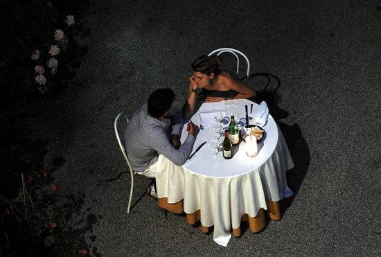 Madonnina Albergo Ristorante : ristorante in cortile