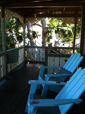 Country Country Beach Cottages: Our balcony