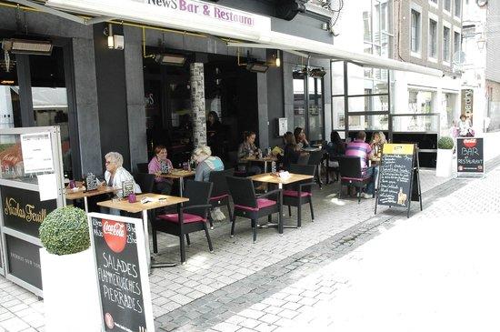 NewS Bar & Restaurant : terrasse chauffée et très agréable