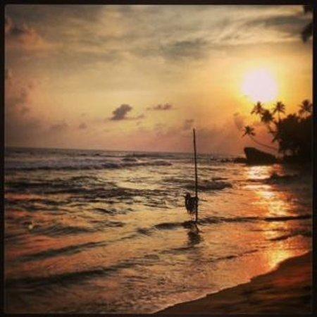 Beach Grove Villas: The beach with stick fishermen