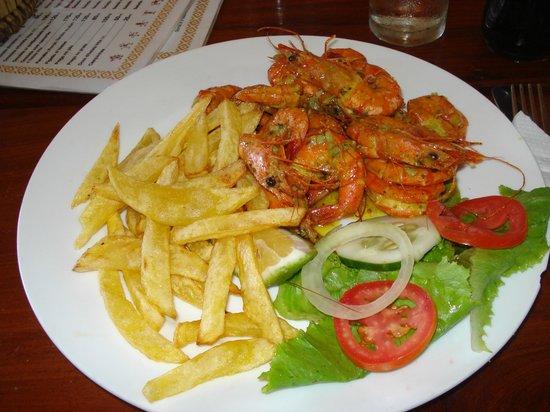 Nordin's Lodge: Shrimps & Chips - Tofo Tofo Restaurant