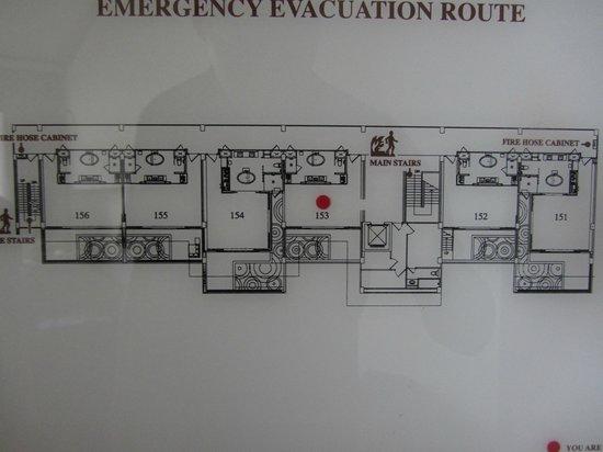 Cape Nidhra Hotel: Grundriss der Zimmer
