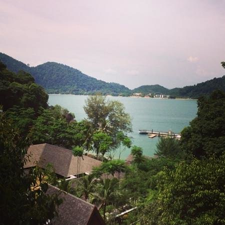 Pangkor Laut Resort: View from hill villa