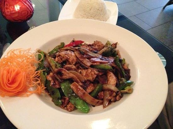 Green Papaya: Black Bean Chicken