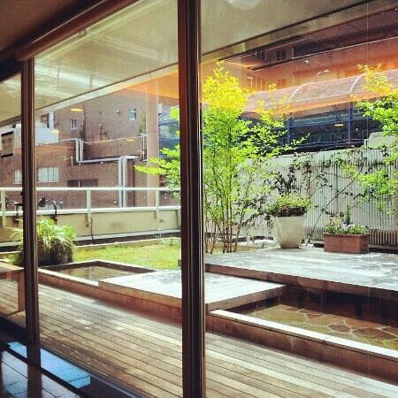 Hotel Niwa Tokyo: A garden on the 3rd floor. Right outside the relaxation room.
