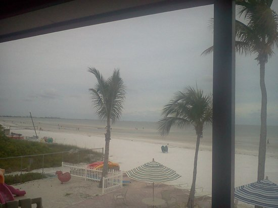 Estero Island Beach Club: looking south from common balcony