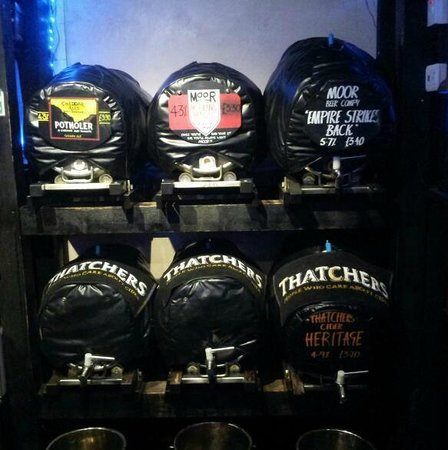 The King's Head : Typical cask ales. All of our ales are served straight from the cask