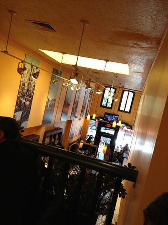 Cafe Venetia: cafe from an upstairs table