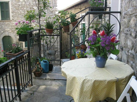 Holidays in Gittana : Terrace of Ca Pina with new flowers