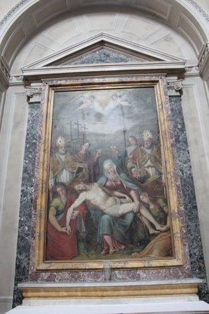 Chiesa Di Sant'ansano E Cripta Di Sant'isacco: dipinto seicentesco altare maggiore