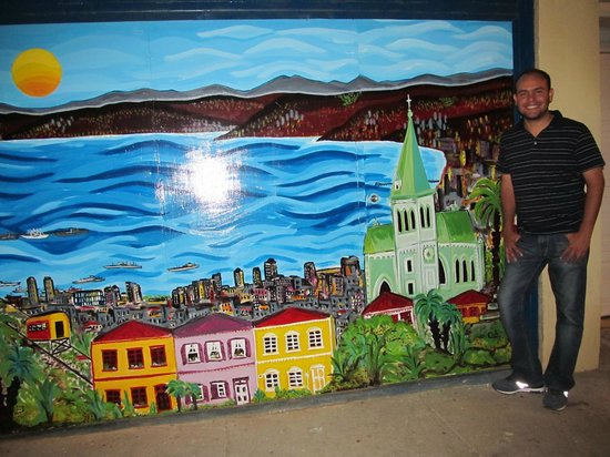 Hotel Manoir Atkinson: Local artist painting on the street