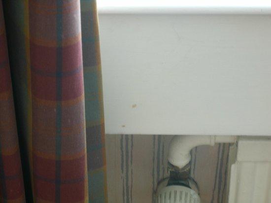 Britannia Airport Hotel: Alter muffiger Vorhang