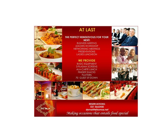 De'Ma. Restaurant: business events,meetings, your perfect venue