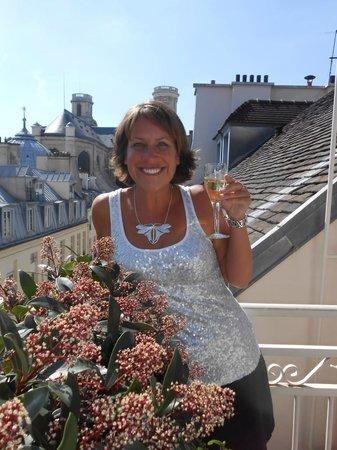 Hotel Esprit Saint Germain : Rooftop Bubbles!