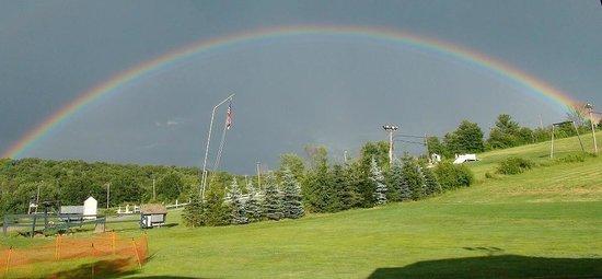Ski Ward: A rainbow over the area
