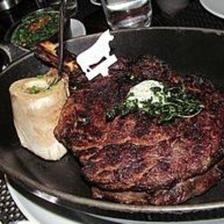 BLT Steak: Rib Eye with marrow