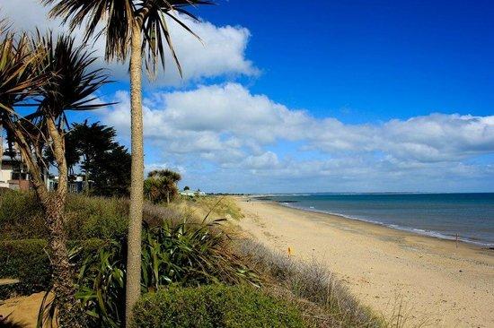 Rosslare Beach Villas : back garden looking left