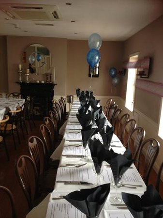 La Rustica : Upstairs set up for a private function.