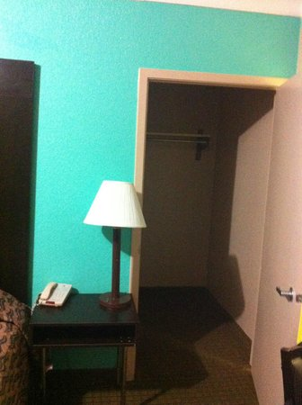 Super 8 Galveston: Huge closet perfect for storing beach supplies