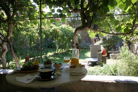 Maison Trivalle: Petit dejeuner sous la treille