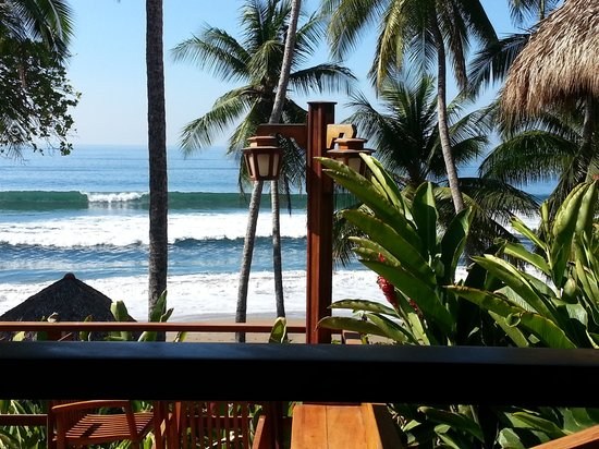 Tango Mar Beachfront Boutique Hotel & Villas: view from breakfast