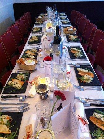 Brasserie Klokspijs: Tafel voor diner met groep