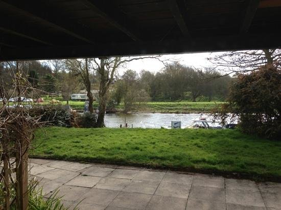 The Lenchford Inn: View from room 1 patio area