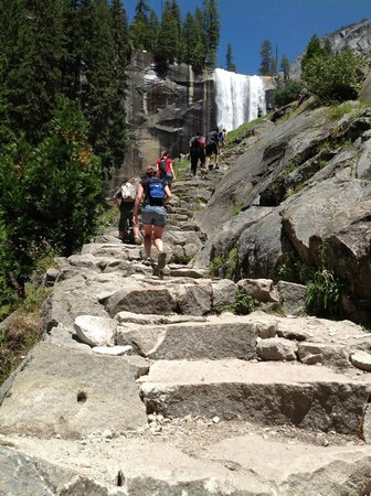 Mist Trail: Stairs to the top