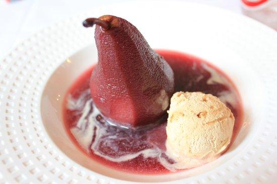 La Grillade Gourmande : Poach pear in red wine