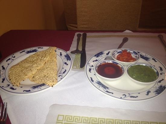 Neelam Exotic Indian Cuisine: papadam