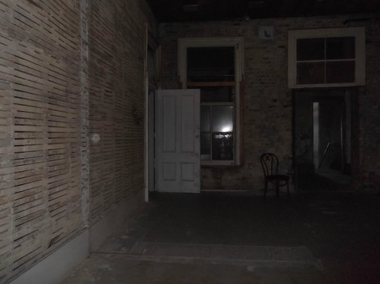 The Washoe Club Haunted Museum: Orb is on the slatted wall to the left and not the reflection in window