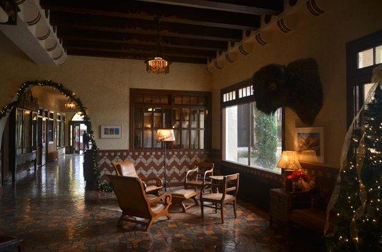 The Hotel Paisano: lobby area