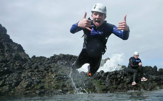 Coasteering NI - Private Tours: this is me having a Great TIME !!