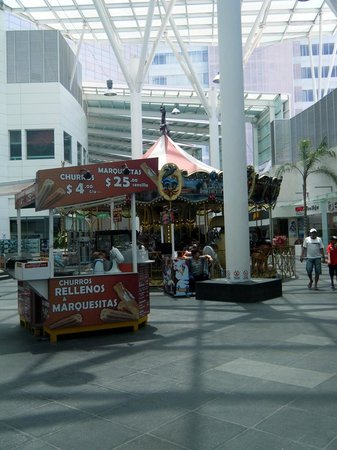 Plaza Las Americas : There is also a carousel (merry-go-round), and churros!!